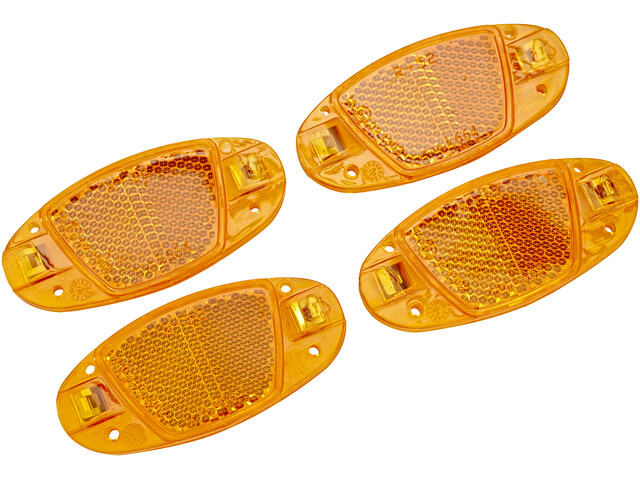 XLC Universal spoke emitter Bike Reflector set of 4 orange
